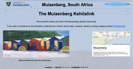 Muizenberg Kehila Front Page