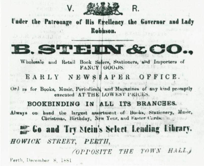 PHCE211 Stein Advert.-1881 (Inquirer-4Jan1882)