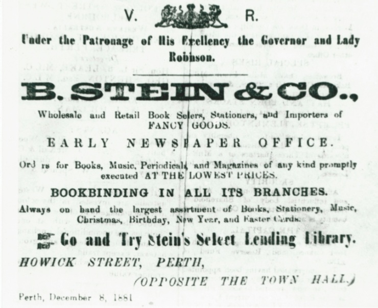 PHCE211 Stein Advert.-1881 (Inquirer-4Jan1882)