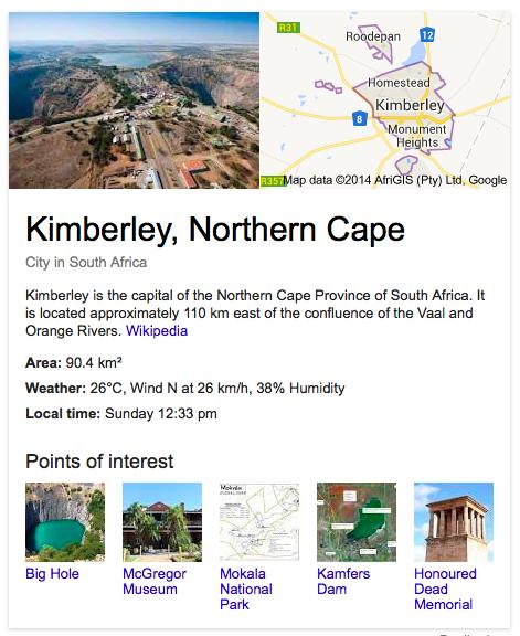 Kimberley Google
