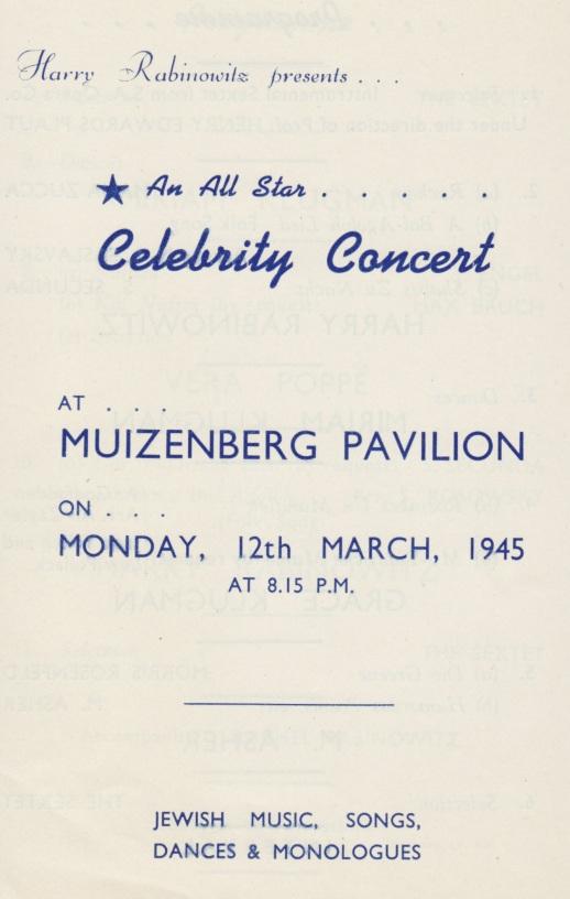 Harry Celebrity Concert 1945